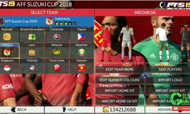 ini telah dilengkapi dengan menyebarkan kompetisi ialah liga  Download FTS 19 Mod AFF Suzuki Cup 2018 Timnas Liga 1/2  3 Indonesia