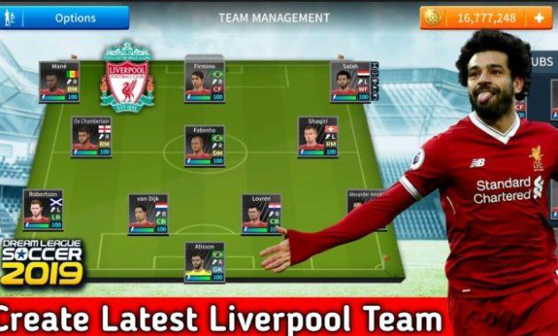 Berbahagialah kau penggemar Liverpool yang disuguhi permainan apik di aneka macam pertanding Download DLS 19 Apk Mod Liverpool FC  Obb Data Offline By Asep Ifan