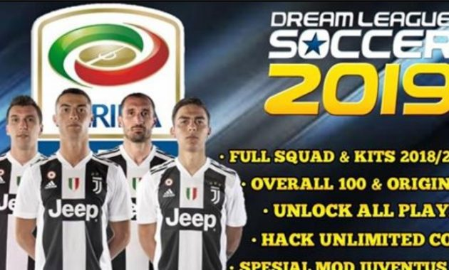 Kabar baik bagi kau penggemar Liga Italia Download DLS 19 Apk Mod Juventus F.C Unlock All Player
