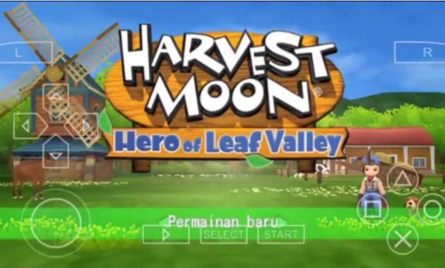 Menceritakan sebuah petualangan pada desa  Download Harverst Moon Hero of Leaf Valley Versi Bahasa Indonesia Update Terbaru
