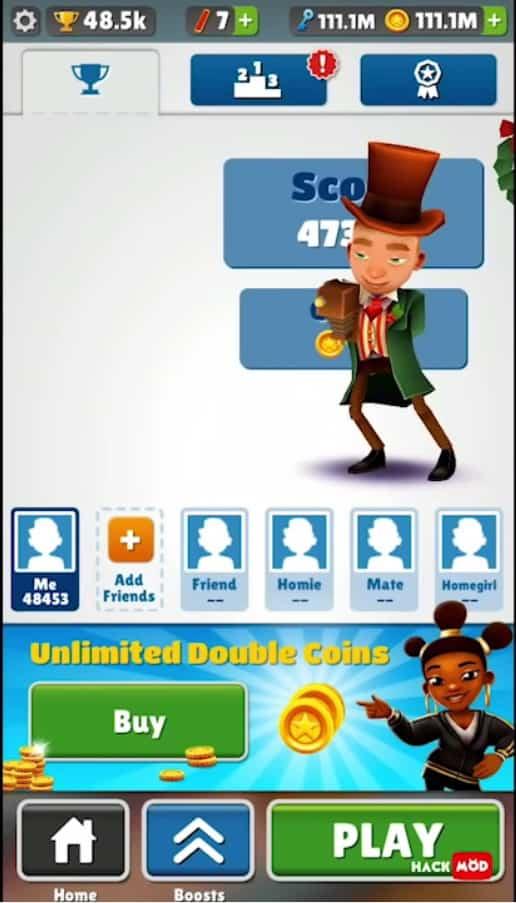 Siapkah kau untuk memainkan game petualangan epik Download Subway Surfers MOD APK Unlimited Coins/Key free for android