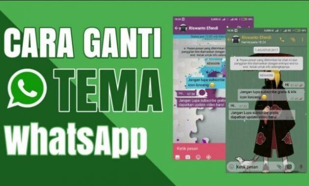 Salah satu aplikasi bertukar pesan yang paling banyak dipakai oleh jutaan penduduk bumi  Cara Jitu Mengganti Tema WhatsApp Lucu Biar Tidak Membosankan