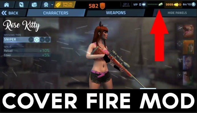 Pimpin kelompok hero Anda untuk perang melawan perusahaan Tetracorp Download Cover Fire 1.10.6 Apk Mod VIP + Data for Android