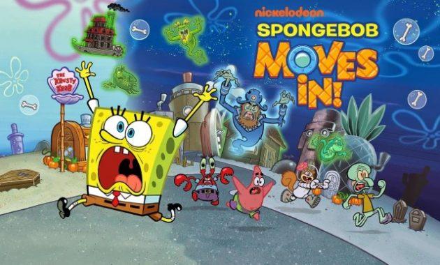 siapa sih yang tidak tahu serial kartun ini Download Spongebob Moves In Mod Apk Data for Android Terbaru 2019