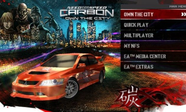 Masih seputar game balapan series Need for Speed  Need For Speed Carbon-Own The City USA ISO/CSO PPSSPP Free Download