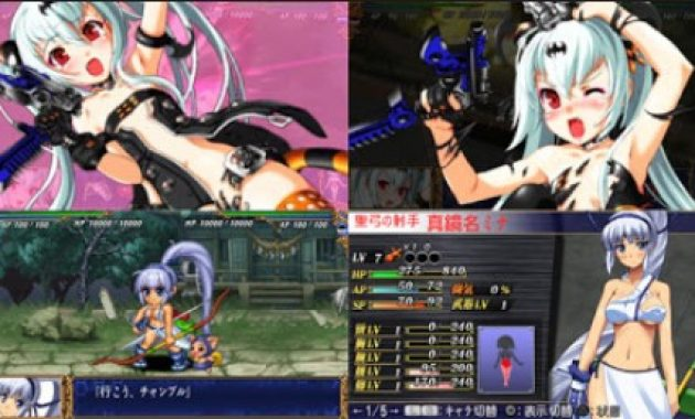 bagi info dan link download game PSP untuk android nih Download Queen's Blade: Spiral Chaos PPSSPP ISO/CSO Highly Compressed