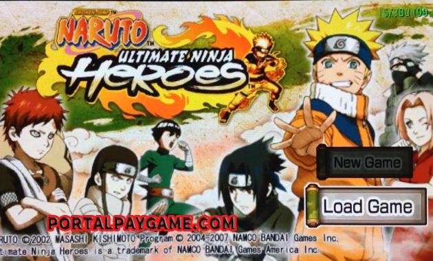 Download Naruto - Ultimate Ninja Heroes ROM for Playstation Portable(PSP ISOs) and Play Naruto