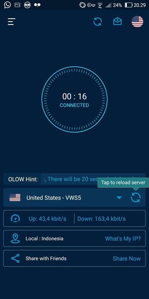 Admin akan berikan satu gosip menarik untuk pagi ini Download OLO VPN Mod v1.7.3 Apk Terbaru VIP Unlocked
